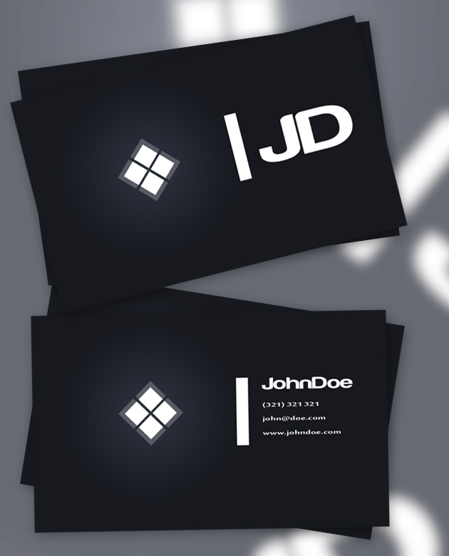 11 creative free business card templates dark business cards reheart Image collections