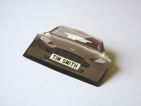 Die cut business cards bespoke shaped business cards for Car shaped business cards