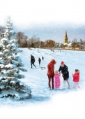 Christmas Cards Design ~ Fun in the Snow