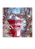 Christmas Cards Design ~ Robin on Postbox