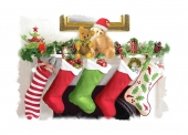 Christmas Cards Design ~ Stockings