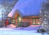 Christmas Cards Design ~ Snowy Cottage
