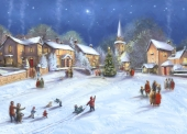 Christmas Cards Design ~ Village at Christmas