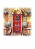 Christmas Cards Design ~ Red Door